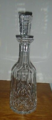 WATERFORD LISMORE CRYSTAL DECANTER w/STOPPER