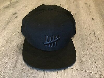 UNDEFEATED HAT 5 strike Black snapback cool cap 100%Authentic ... 84ab9f261ad