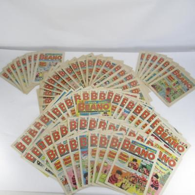 Bundle of 79 Beano Comics from the 1980's & 1990s - Paperbacks In Fair Condition