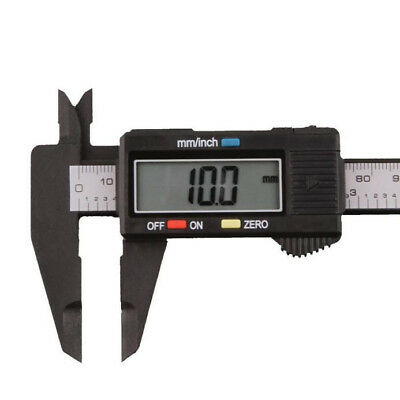 "1X 150mm 6"" LCD Digital Electronic Carbon Fiber Vernier Caliper Gauge Micrometer"
