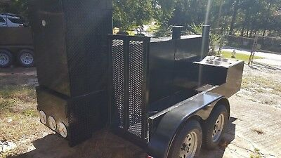 Sink Setup Big Foot BBQ Smoker Grill Trailer Food Truck Mobile Catering Business