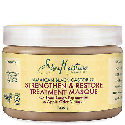SHEA MOISTURE Jamaican Black Castor Oil Treatment Masque 326ml #5739 DAMAGED