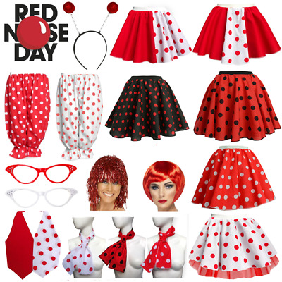 GIRLS Comic Relief RED NOSE DAY 2019 COSTUME Polka Dot Skirts or Accessories UK