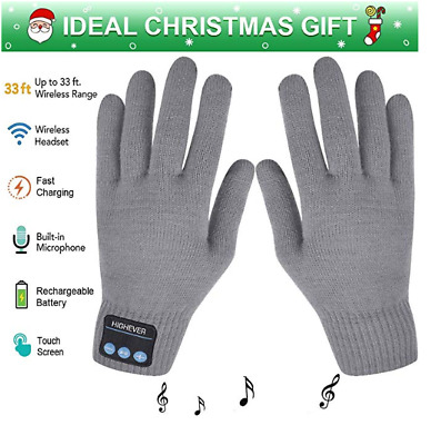 Bluetooth Gloves Wireless Bluetooth Gloves, Winter Gloves Touch Screen Fast