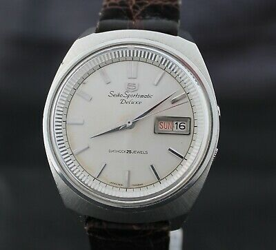 Vintage Seiko 5 Sportsmatic Deluxe 7619-7020 November 1965 Automatic watch