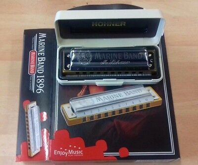 Hohner Marine Band diatonic harmonica, key of D, brand new boxed item with case