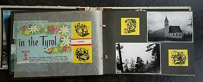 Vintage Photograph Album Scrap Book Postcards Photos 1960 Austria 100+ Pictures