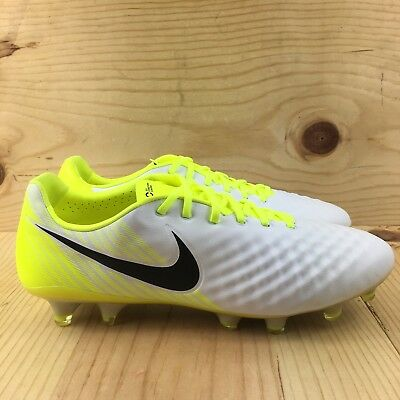 competitive price 6f366 14f5e Nike Magista Opus II FG Size 10 Soccer Cleats White Black Volt Wolf Grey