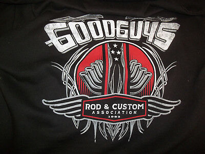 Goodguys Rod & Custom Association Zipper Front Hoodie Size Adult Large Preowned