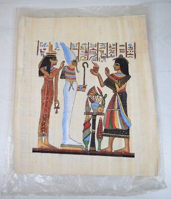 Vintage Collectible Hand-Painted Papyrus Scroll Painting from Egypt Around 1960