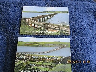 2 Vintage Postcards Of Tay Bridge, Dundee. Unposted