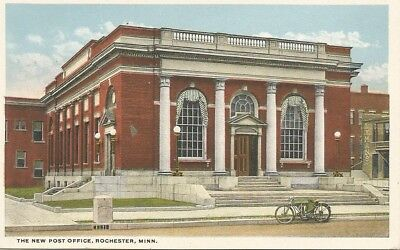 New Post Office - Rochester Minnesota - Motorcycle Parked in Front