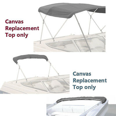 Boat Pontoon Bimini Top Fabric Canvas 4 Bow W/Boot /Zippers