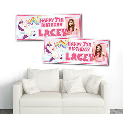 2 PERSONALISED BENDY & THE INK MACHINE BIRTHDAY BANNERS - 800x297mm ANY NAME/AGE