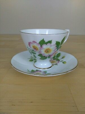 Tea Cup And Saucer CLARE bone China Made in England