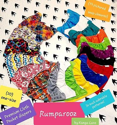 Rumparooz Cloth Pocket Diaper Lot + EXTRAS