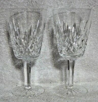 Pair of Waterford Crystal Lismore Water Goblets 6 7/8""