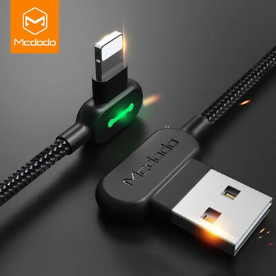 Right Angle Lightning USB Cord Fast Charging Data Sync Cable For Apple iPhone