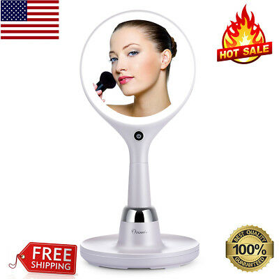 LED 7x/1x Touch Makeup Mirror Double-Sided Cosmetic Vanity Mirror USB Charging