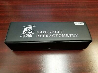 Refractometer Hand Held by Zebra Skimmers MT-032ATC - New with Free Shipping
