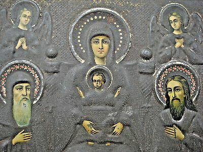 1897 Russian Orthodox Icon Blessed Virgin Pechersky Jaco Moscow