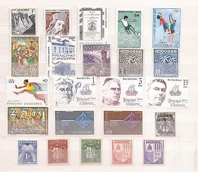 Andorra  -   All Mnh  -   Lot Of Mnh Stamps