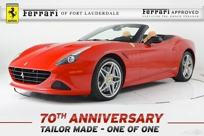 2017 Ferrari California T Certified CPO One of One Tailor Made 70th Anniversary Out of Range Paint Bespoke Interior