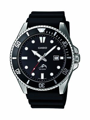 Casio Men's Quartz Diver Rotating Bezel Black Resin Band 44mm Watch MDV106-1A