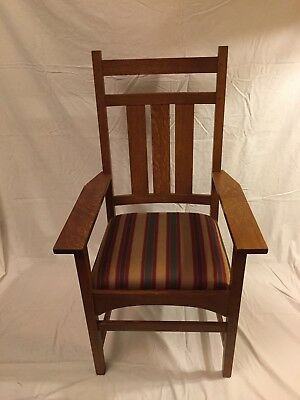 Stickley Harvey Ellis Oak Dining Chairs - Set of 4