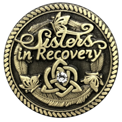 Sisters in Recovery Premium Bronze AA/NA coin token medallion
