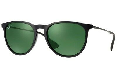 RAY-BAN Women's Erika Classic RB4171 601/2P Black/Green Polarized Sunglasses