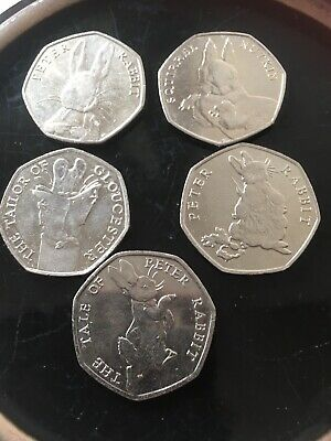 The Tale Of Peter Rabbit Extreamely Rare Beatrix potter Circulated 50p Coins