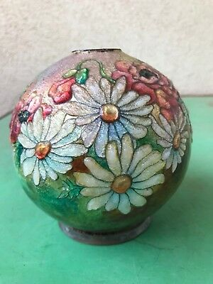 RARE and BEAUTIFUL enamalled copper vase by FAURE LIMOGES