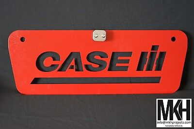 Tractor Weight / Front Tool Box Plate Sign with centre line clamp - CASE IH