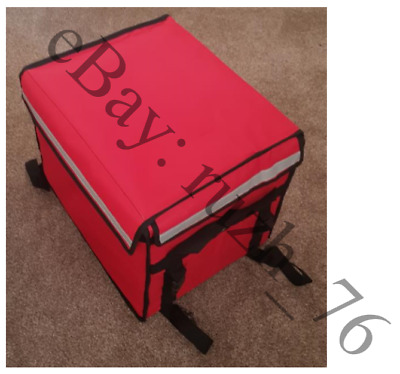 52L red delivery bag with temperature controlled heat pad