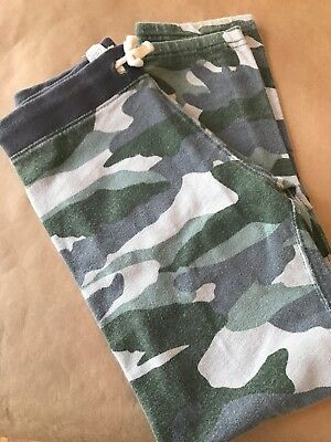 Jcrew Crew Cuts Boys Olive Green  Camo  Sweat Pants/pjs Size 8