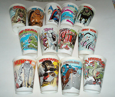 1970's Slurpee Monster Cups - 13 different 7-11 convenience store