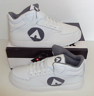 AIRWALK Mens Thrasher White Skate Casual Trainers Shoes New UK Size 11