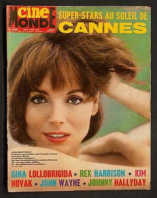 'cinemonde' French Vintage Magazine Elsa Martinelli Cover 18 May 1965