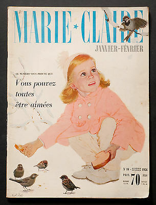 'marie-Claire' French Vintage Magazine New Year Issue January 1956