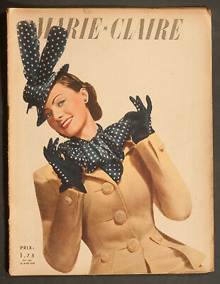 'marie-Claire' French Vintage Magazine 26 August 1940