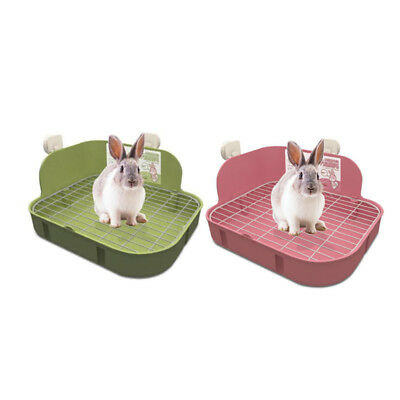 Rabbit Toilet Tray Animal Pet Corner Buckle Hamster Pee Potty Trainer Litter Box