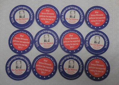 2002 - Call Senator Paul Wellstone About The Beer Tax - 12 Table Coasters