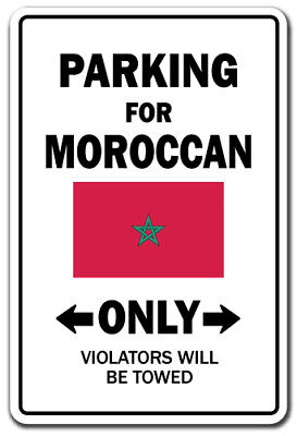 PARKING FOR MOROCCAN ONLY Decal morocco flag national pride love 5""