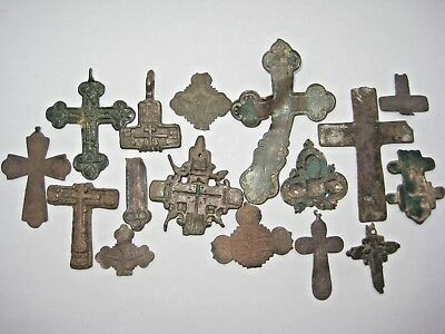 ANTIQUE RUSSIAN ORTHODOX CROSS 17-18 century