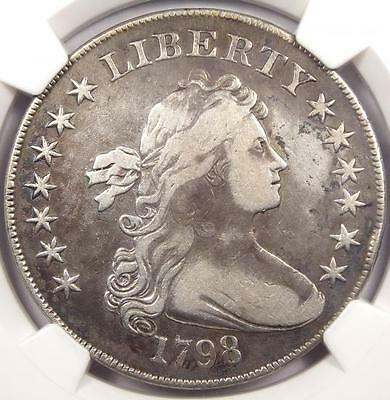 1798 Draped Bust Silver Dollar $1 - NGC VF Details - Rare Certified Coin