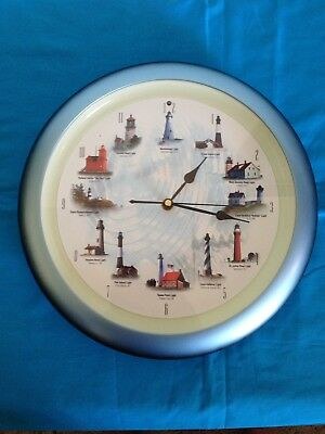 Lighthouse Sound Clock Pre-owned 12 Authentic Nautical Sounds