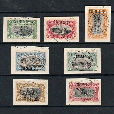 """Belgian Congo 1909 Locally Surcharged """"congo Belge"""" Type L1 Stamps To One Franc"""