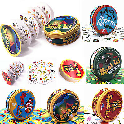 Spot It Dobble Find It Board Funny Card Game Kids Chilren Family Gathering Party