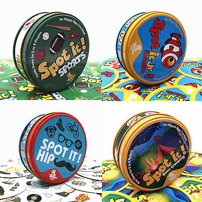 Spot It Dobble Find It Board Funny Card Game Family Gathering Birthday Party Hot